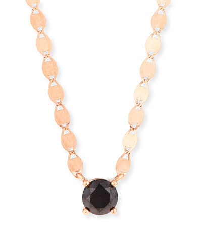 14k Reckless Solo Black Diamond Pendant Necklace