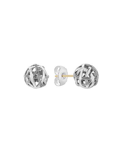 Caviar Talisman Woven Knot Stud Earrings