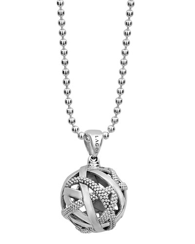 Caviar Talisman Woven Knot Necklace, 34