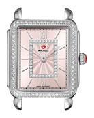 Deco II Midsize Diamond Watch Head, Blush Dial