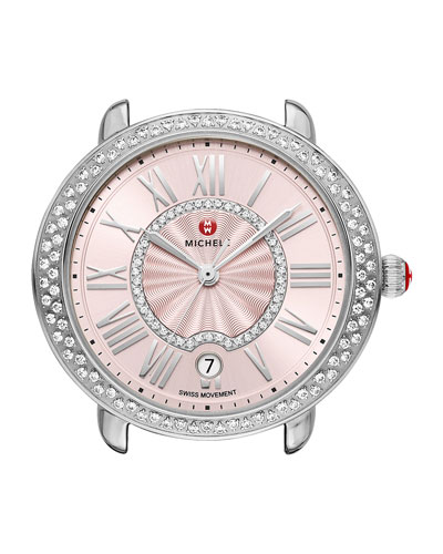 16mm Serein Diamond Watch Head, Blush Dial