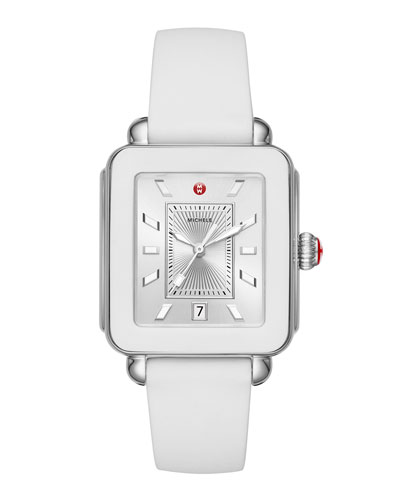 Deco Sport Silicone Watch, White