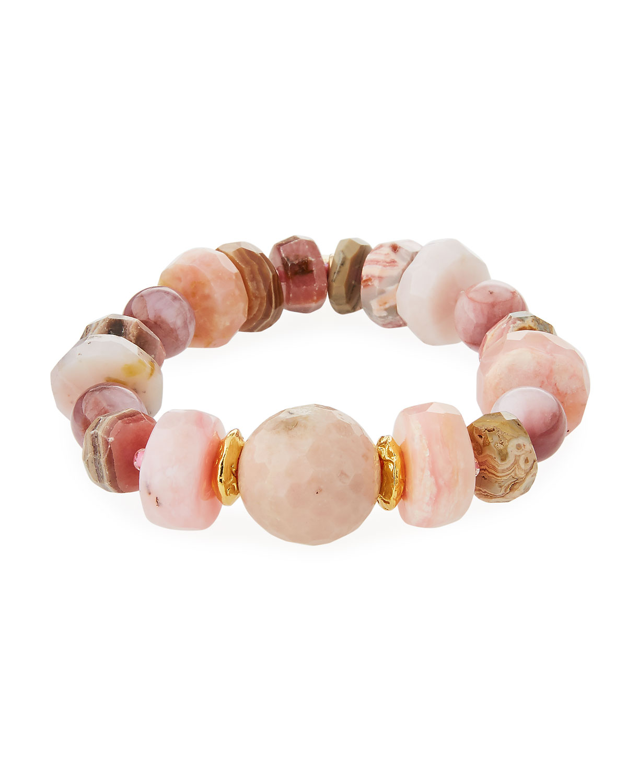 18k Rondelle & Ball Stretch Bracelet