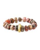 18k Rhodonite Rondelle Stretch Bracelet