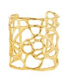 Golden Plated Web Cuff Bracelet