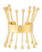 18k Hammered Ball Spike Cuff Bracelet