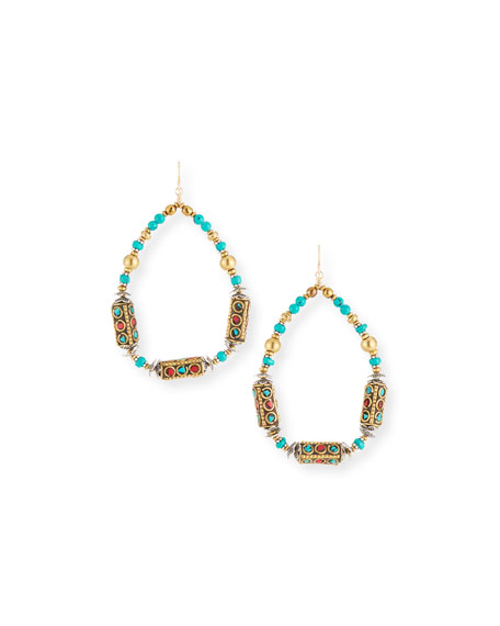 Devon Leigh Turquoise Coral Ethnic Teard
