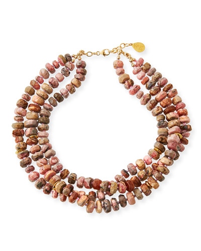 14k Multi-Strand Beaded Necklace