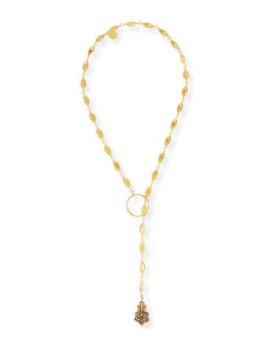 Long Lariat Pendant Necklace, 34