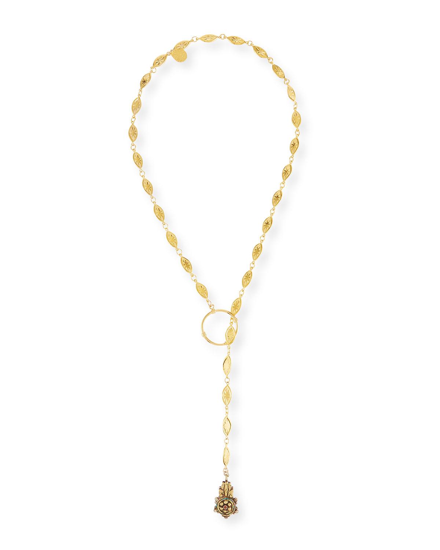 Long Lariat Pendant Necklace
