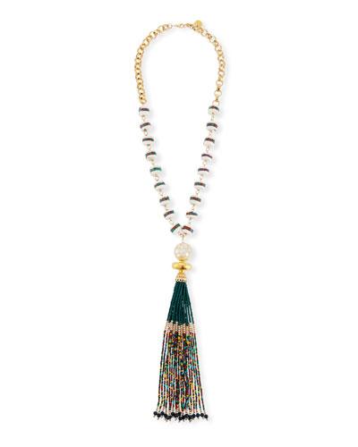 Multicolor Tassel Pendant Necklace