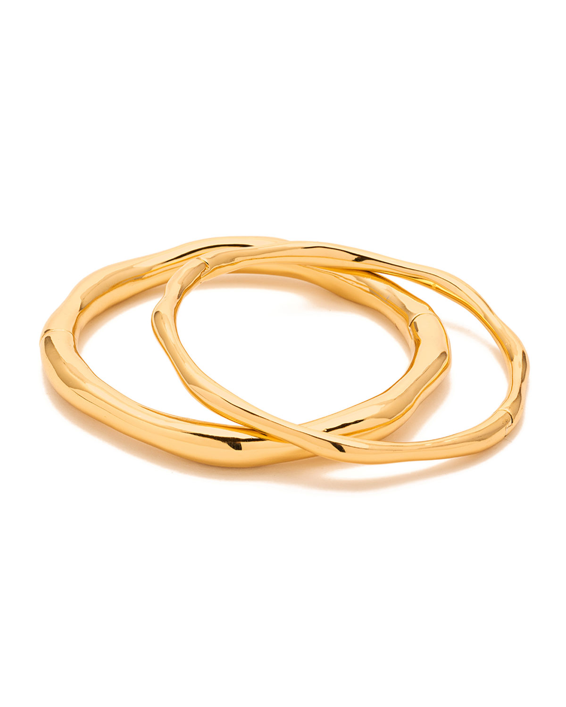 Quinn Hinged Bracelets, Set of Two