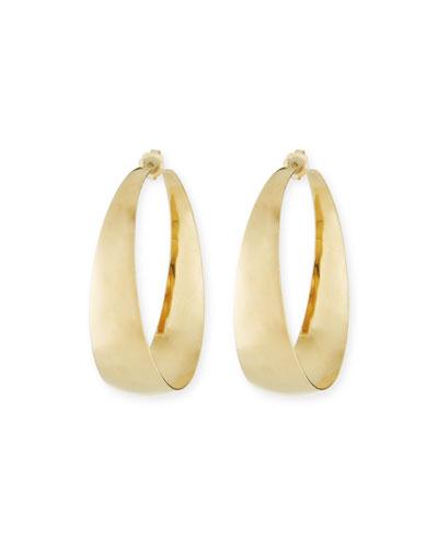 14k Alias Gradual Curve Hoop Earrings