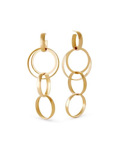 14k Alias Curve Bond Drop Earrings