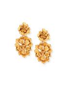 Blooming Bold Flower Drop Clip Earrings