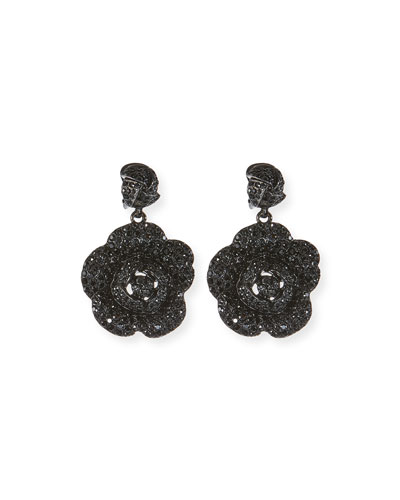 Gardenia Pavé Swarovski Crystal Earrings