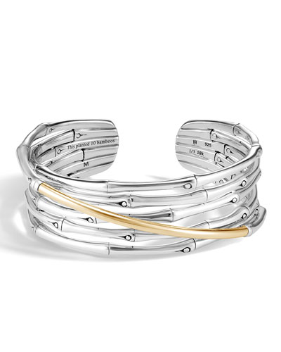 Two-Tone Bamboo Flex Cuff Bracelet