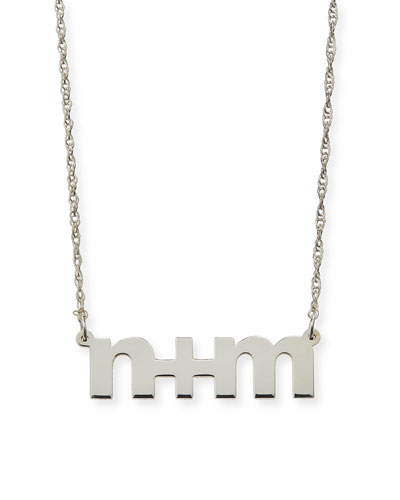 Jennifer Zeuner Sam Personalized Block Letter Pendant Necklace