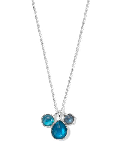 925 Wonderland Three-Stone Necklace in Primrose
