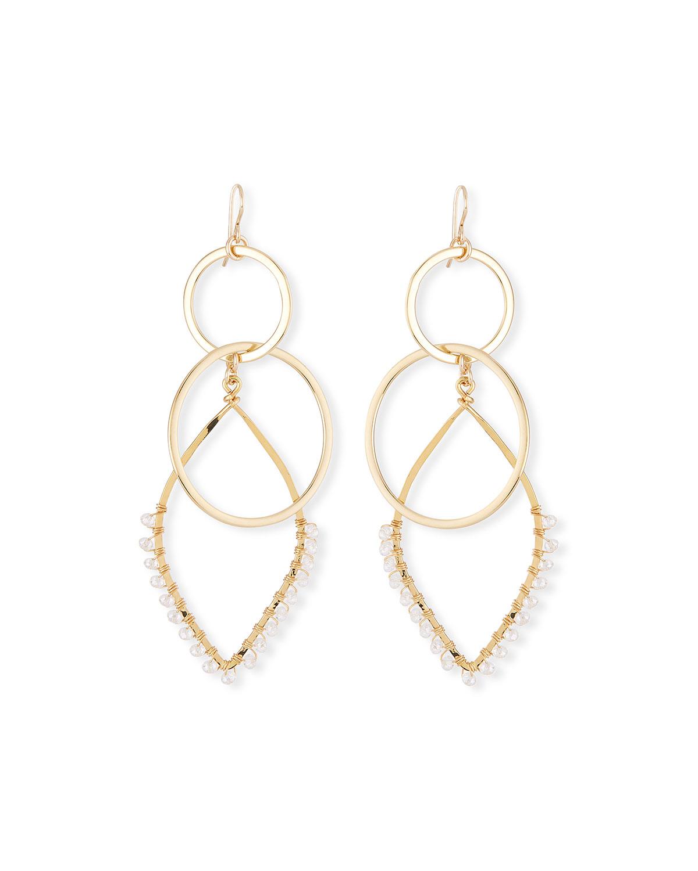 Teardrop Double-Link Earrings
