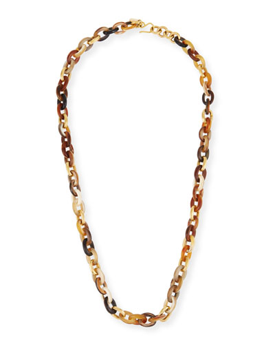 Meli Mixed Horn Link Necklace
