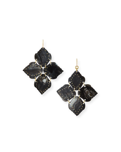 Angalia Dark Horn Drop Earrings