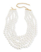 Monarch Pearly Choker Bib