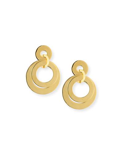 Banded Hoop Drop Earrings