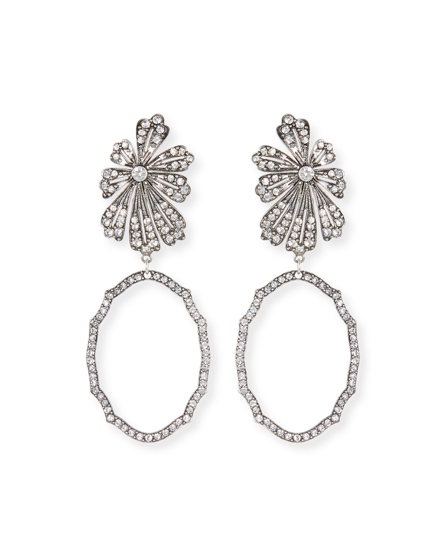 Camellia Crystal Flower Earrings