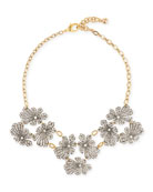 Camellia Crystal Flower Necklace