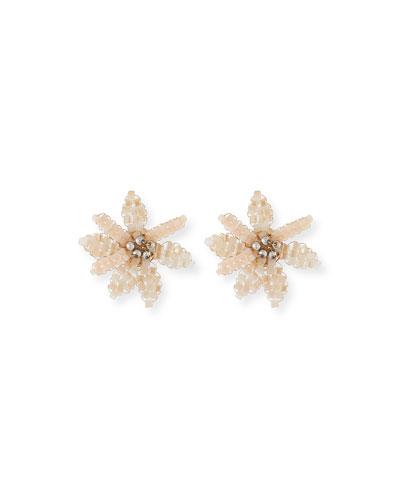 Tahiti Floral Stud Earrings, Pink