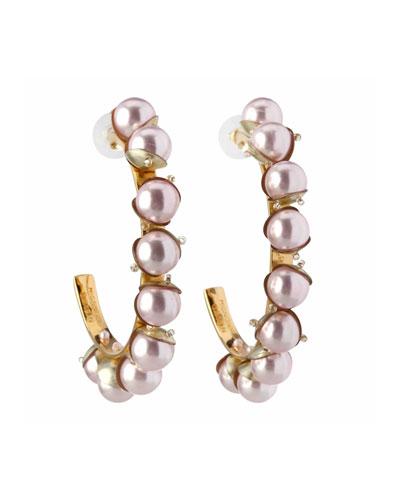Dannijo Adelaide Blue Zircon Hoop Earrings dDeeCl