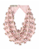 Delfina Scarf Necklace w/ Swarovski Pearls