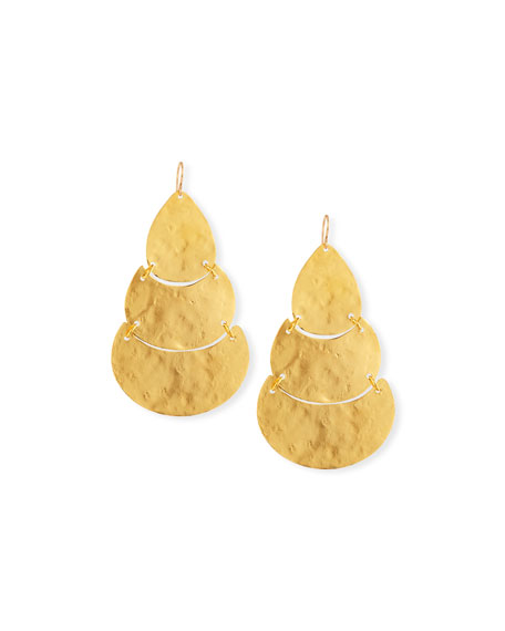 Devon Leigh Triple Tier Teardrop Earrings