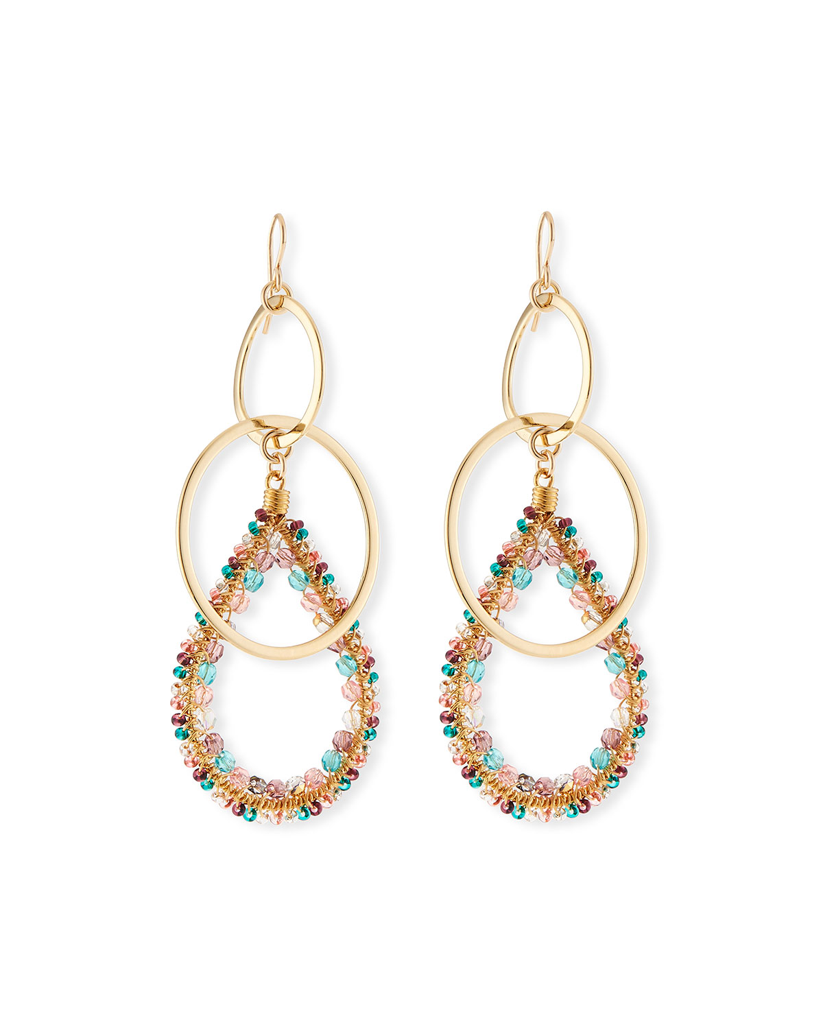 Devon Leigh Teardrop Double-Link Earrings nwpE52zU1