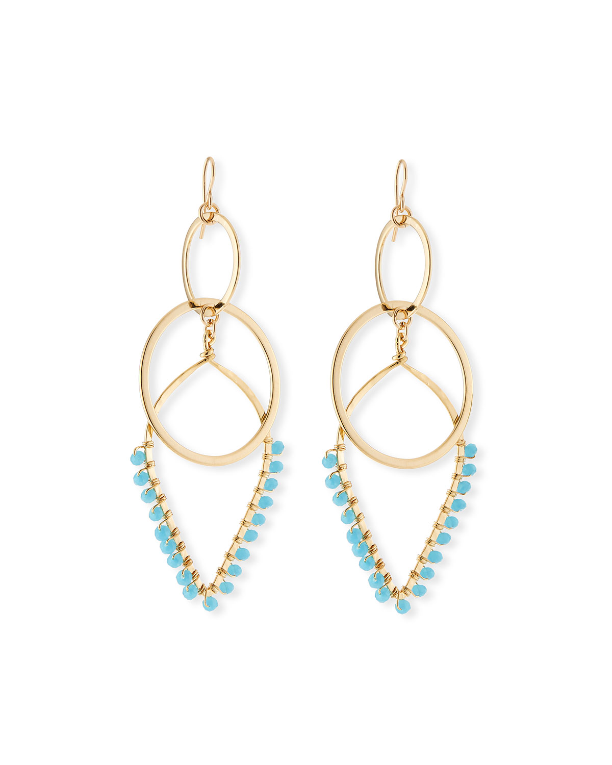 Devon Leigh Teardrop Double-Link Earrings