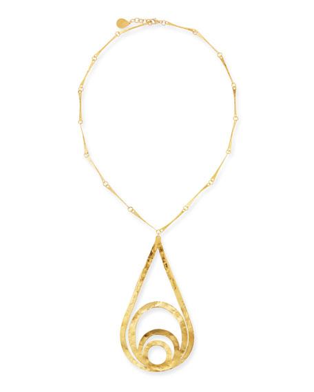 Devon Leigh Multi-Loop Teardrop Pendant Necklace