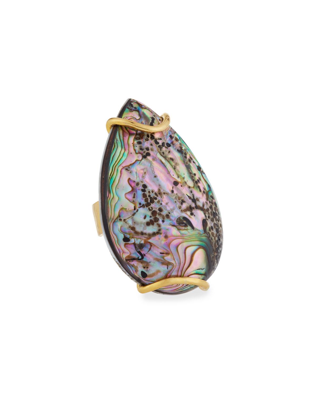Abalone Teardrop Ring