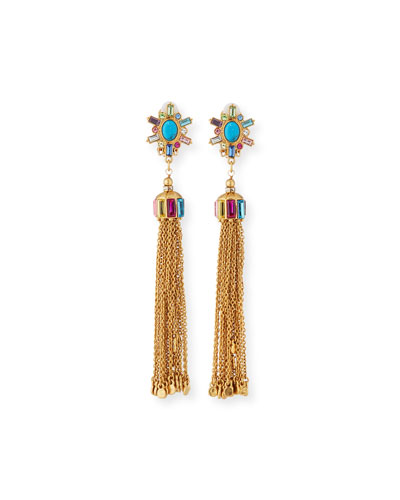 Multicolor Tassel Drop Earrings