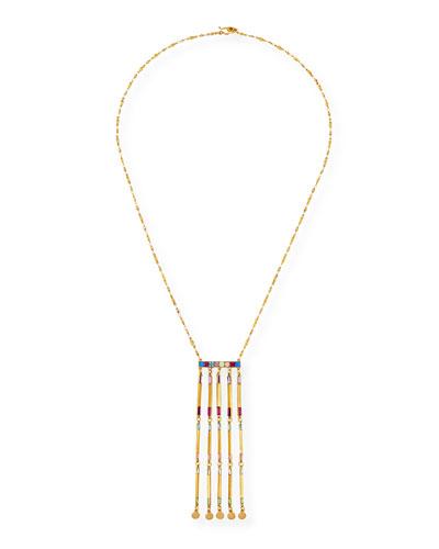 Long Rainbow Multi-Drop Necklace
