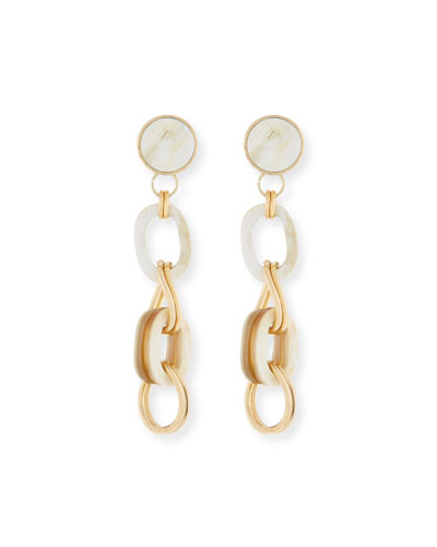 Horn & Chain Drop Earrings