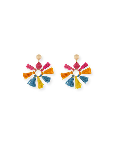Multi-Tassel Fan Earrings