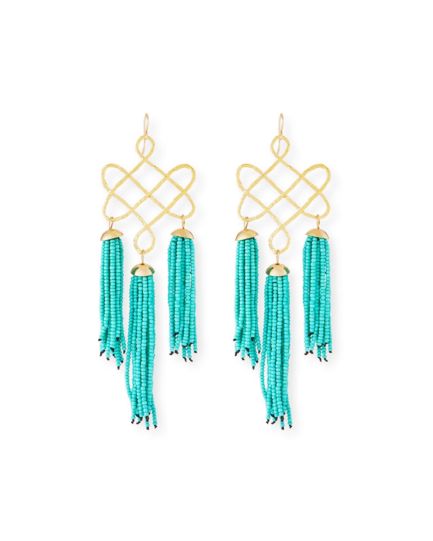 Trellis Tassel Earrings