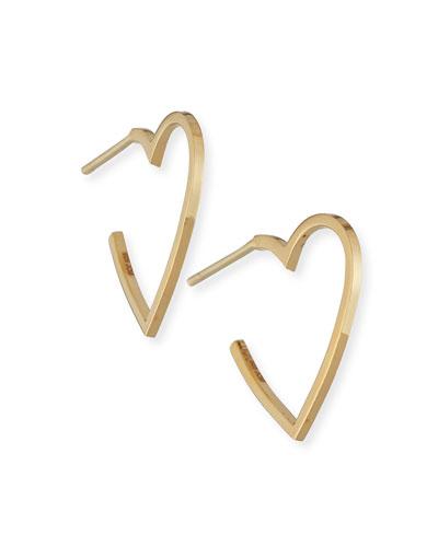 Larissa Mini Heart Hoop Earrings