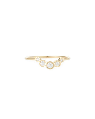 14k Graduated Five-Diamond Ring