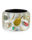 Fruit Studded Lucite® Hinge Bracelet