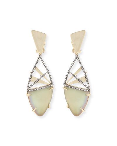 Crystal Encrusted Plaid Clip-On Earrings