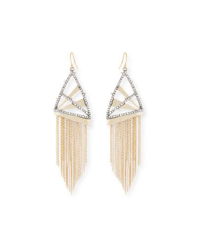 Chain Fringe Wire Drop Earrings