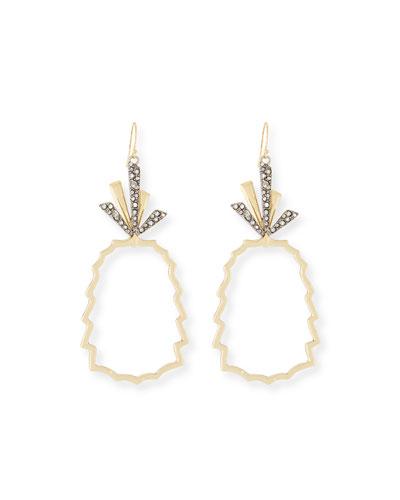 Pineapple Wire Drop Earrings