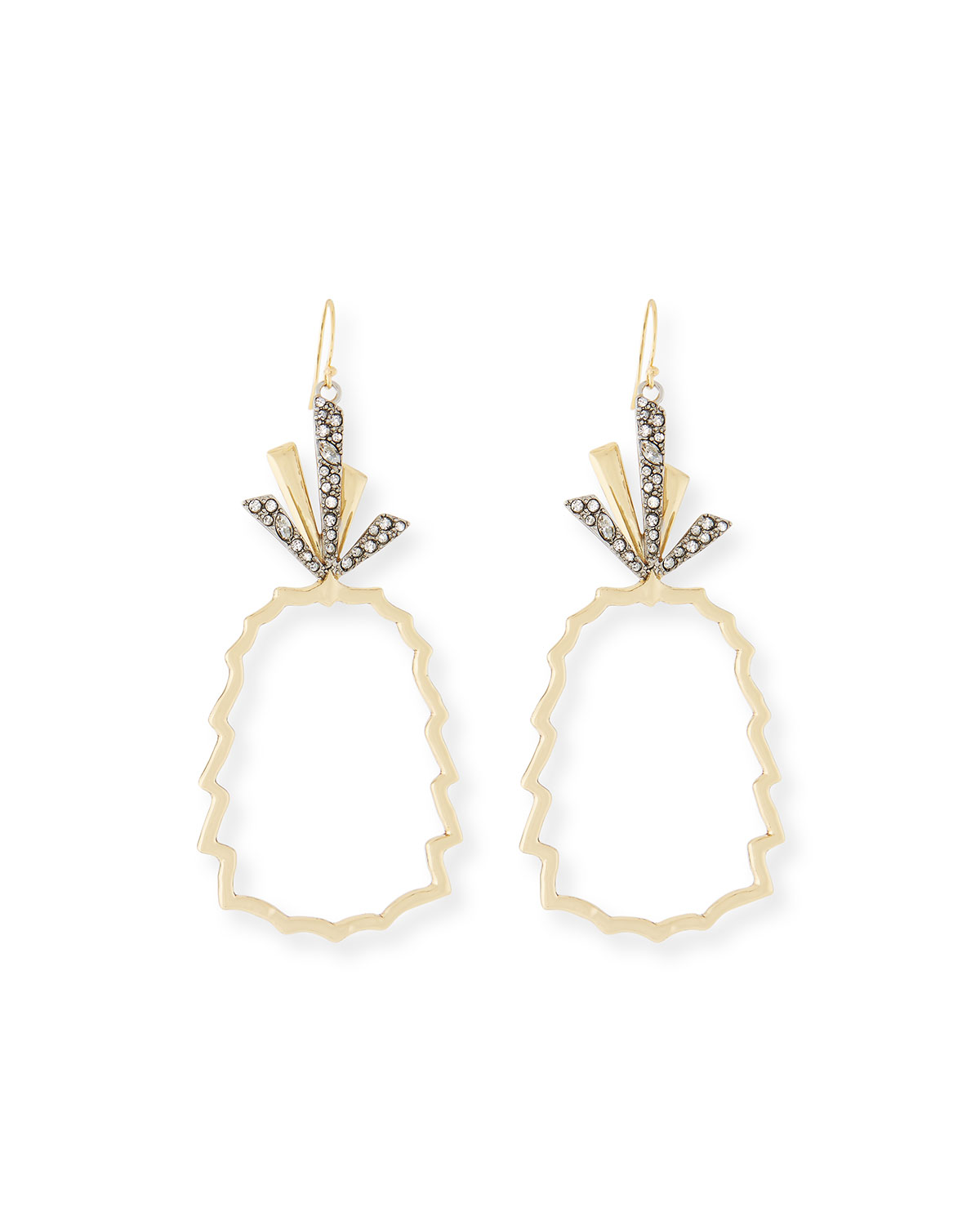 Pineapple Wire Drop Earrings